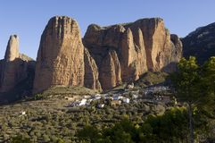 Riglos landscape Royalty Free Stock Images