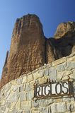 Riglos. Rock spires known as Mallos de Riglos, Huesca, Aragon, Spain Royalty Free Stock Image