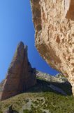 Riglos. Rock spires known as Mallos de Riglos, Huesca, Aragon, Spain Royalty Free Stock Photo