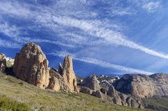 Riglos. Rock spires known as Mallos de Riglos, Huesca, Aragon, Spain Stock Photo