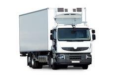Rigo truck  on white background. White frigo truck  on white background Stock Images