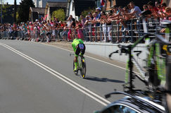 Rigoberto Uran, Cannondale Pro Cycling. APELDOORN, NETHERLANDS-MAY 6 2016: Rigoberto Uran of pro cycling team Cannondale Pro Cycling during the Giro d'Italia Royalty Free Stock Photos