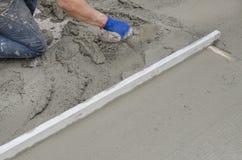 Rigone gładzić beton Fotografia Stock