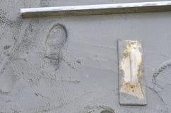 Rigone, zum des Betons glatt zu machen Stockfotos