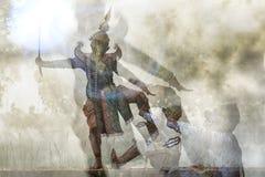 RIGOROSAMENTE DANCING DI KHON Fotografie Stock