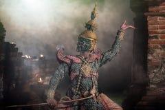 RIGOROSAMENTE DANCING di KHON & x28; THOTSAKAN& x29; Fotografia Stock