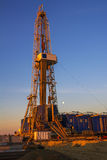 Rigs in the morning the sky is very beautiful. Stock Photo
