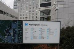 RIGSHOSPITAL GLOSTRUP IN GLOSTRUP DANIMARCA immagini stock