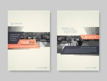 Riguardi il rapporto annnual di progettazione, l'aletta di filatoio, la presentazione, opuscolo illustrazione vettoriale