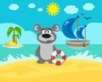Riguardi la spiaggia Giro del mare Vacanza di estate Illustrazione di vettore illustrazione vettoriale
