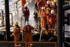 Rigworkers &运输船 库存照片