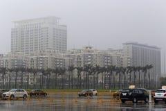Rihang hotell i regn Royaltyfria Foton