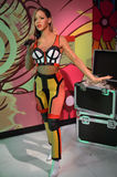 Rihanna蜡雕象 库存图片