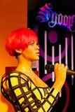 Rihanna amerikansk sångare, vaxmuseum för madam Tussauds royaltyfri foto