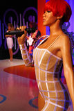 Rihanna at The Madame Tussauds museum in Las Vegas royalty free stock images