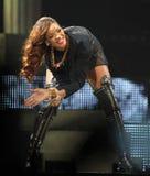 Rihanna se realiza en concierto fotos de archivo