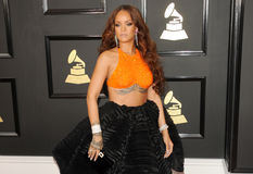 Rihanna. At the 59th GRAMMY Awards held at the Staples Center in Los Angeles, USA on February 12, 2017 Royalty Free Stock Photo
