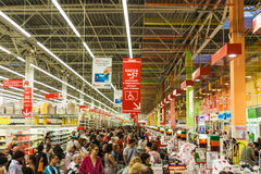 Rij bij de supermarkt Royalty-vrije Stock Fotografie