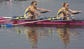 RIJ: De Europese het Roeien Kampioenschappen Stock Afbeeldingen
