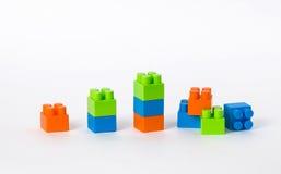 Rij die van blokken, een grafiek de vormen, laatste laag is browken Stock Afbeelding