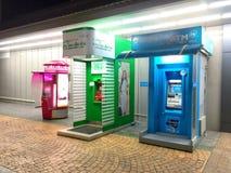 Rij van ATM-de machines van het contant geldpunt Stock Afbeelding