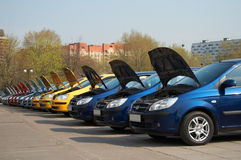 Rij van auto's Royalty-vrije Stock Afbeelding