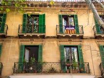 Rij van balkons in Spanje Royalty-vrije Stock Afbeelding