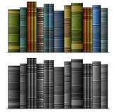 Rij van boeken Royalty-vrije Stock Afbeeldingen