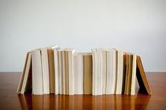 Rij van Boeken Stock Foto