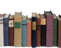 Rij van boeken stock afbeelding