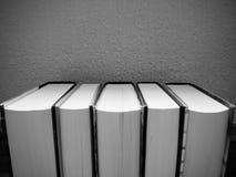 Rij van boeken Stock Foto's
