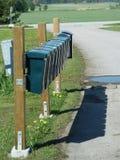 Rij van brievenbussen Stock Afbeelding