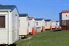 Rij van caravans in aanhangwagenpark Royalty-vrije Stock Fotografie