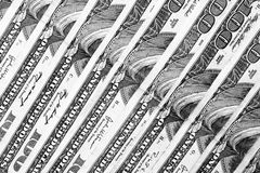 Rij van Contant geld stock fotografie