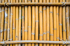 Rij van de achtergrond van de bamboemuur Royalty-vrije Stock Afbeelding