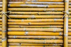 Rij van de achtergrond van de bamboemuur Stock Foto