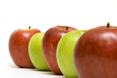 Rij van de appelen Stock Fotografie