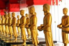 Rij van de bevindende standbeelden van Boedha Royalty-vrije Stock Foto's