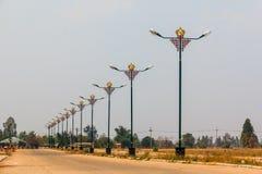 Rij van de Chinese post van de stijlelektriciteit Royalty-vrije Stock Fotografie