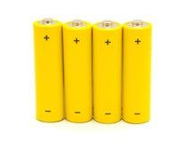 De batterijen van aa Royalty-vrije Stock Afbeelding