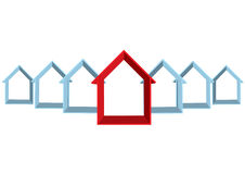 Rij van de huizen Stock Foto
