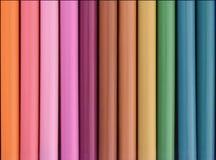 Rij van de kleurrijke van vilten achtergrond uiteindepennen vector illustratie