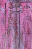 Rij van de oude roze doorstane achtergrond van vensterblinden Royalty-vrije Stock Foto