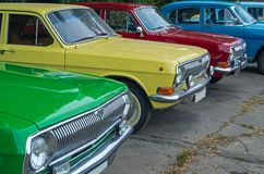 Rij van de retro auto's Royalty-vrije Stock Fotografie