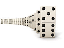 Rij van domino's royalty-vrije stock fotografie