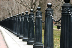 Rij van fencepoles royalty-vrije stock foto