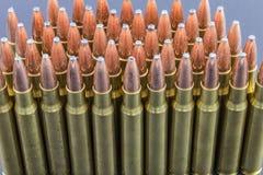 Rij van geweer munitie Stock Afbeelding