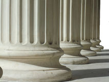 Rij van Griekse kolommen Royalty-vrije Stock Fotografie