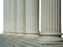 Rij van Griekse kolommen Stock Foto