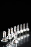 Rij van H7 autolampen Royalty-vrije Stock Foto
